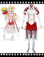 Wholesale Xxl Size Dresses Online - Wholesale-TMZ Free Shipping Custom Made Sword Art Online Asuna Cosplay Dress Costume With Stockings, Any Size