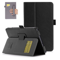 Wholesale Cover For Galaxy Tab3 - Luxury PU Leather Case Cover for Samsung Galaxy Tab A 8.0 T380 T385 2017 Tablet with Card Slots Hand Strap