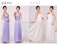 Wholesale Cheap Long Prom Dresses Wholesale - Hot Selling Cheap Empire Pure Color Homecoming Dresses Sexy One shoulder Strapless Long Chiffon Dress Sweety Party Prom Gowns
