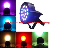 Wholesale dj par lights - 54W 18X3W Led Par Lights RGB Stage Lighting DMX512 Led Lights For Party KTV Disco DJ Lighting AC 85-265V