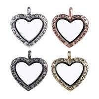 Wholesale grade wholesale stainless steel jewelry - Top Grade Fashion 30mm Heart Floating Locket DIY Transparent Glass Frames Floatings Charms Lockets Pendants Jewelry Wholesale Free 0033KLF