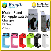 support de chargeur de bureau achat en gros de-Charging Holder Stand Support pour Watch iWatch E7 Station de chargeur de bureau Apple avec l'emballage de vente au détail de couleurs disponibles Livraison gratuite