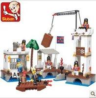 Wholesale Sluban Pirate Set - Sluban M38-B0280 339pcs 3D construction eductional plastic Building Block Sets Pirate Royal Harbor children toys Christmas Gift