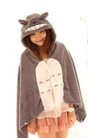 Wholesale Totoro Flannel - Retail Cute My Neighbor Totoro Lovely Plush Soft Cloak Anime Totoro air-condition Shawls