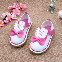 Wholesale Muscle Rabbit - Wholesale- Kitiin 2017 Rabbit Ears Baby Girls Shoes Cartoon Infant Girls First Walkers Autumn Toddler Girls Soft Walker Shoes Size 5.5-8