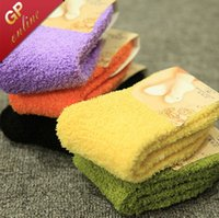 Wholesale Pink Fuzzy - Ladies Fulffy Socks with 18 Solid Colors Womens Fuzzy Socks for Winter Socks Women