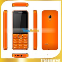 Wholesale Orange Sim - Cell Phone for Old People Newest Big Button 2.4 Inch Black Orange Display GSM Dual SIM Bluetooth Email MP3 FM Radio SOS 2007D