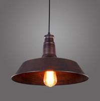 Wholesale Pendant Metal Shade - Vintage Rustic Metal lampshade Edison Pendant lamp lights Retro Lustre shade hanging lampe Fixture Industrial lighting lamparas