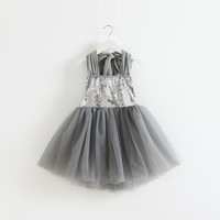 Wholesale Halter Bowknot - Kids Girls Tulle Lace Sequins Party Dresses Baby Girl Summer Halter Backless Bowknot TuTu Princess Ruffle Dress 2015 Babies Clothes