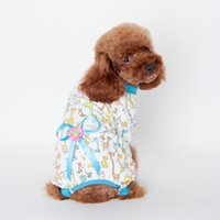 Wholesale Teddy Dog Clothes Summer Autumn - 2016 Newest Design Teddy Coat Spring Autumn Cotton Print Bowknot Dog Coat Clothe Mini Pet Puppy Cute Dog Fashion Hoodie Clothes