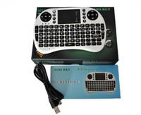 dokunmatik yüzey usb kablosu toptan satış-2.4G Dokunmatik Fly Air Fare ücretli pil USB Kablosu Siyah / Beyaz Taşınabilir 2.4G Rii Mini i8 Kablosuz Klavye Mouse Combo Touchpad PC