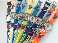 Wholesale Superman Sport Dhl - Free Shipping DHL EMS 120pcs lot Wholesales Cartoon kids watch Superman 3D Children give your child a good gift