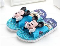 Wholesale Cheap Baby Slippers - children slippers.Summer 4-6 years lovely cartoon baby sandals cheap soft bottom baby slippers free shipping 5pair 10pcs B3