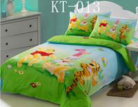 Wholesale Winnie Pooh Comforter Sets - 100%Cotton Children Boys Girls Twin Size 3pcs bedding sets bedclothes sheet duvet cover pillowcase Bedding Supplies Cartoon Winnie the Pooh