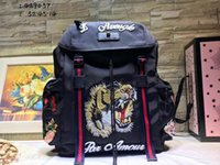 Wholesale Model Packs - men women Outdoor Packs Backpack Embroidered tiger Designer backpack Climbing travel youthful vitality Style Size 32*45*14cm model 184625665