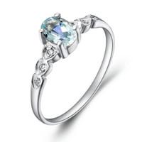 Wholesale Natural Aquamarine 925 - Fashion natural blue Aquamarine ring, 925 sterling silver fashion jewelry
