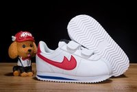 Wholesale Toddlers Fall Shoes - Boys Girls Cortez Kids Shoes Childrens Sneakers Red Chaussures Pour Enfants Barons Wolf Grey French Blue Sports Shoes Toddlers Birthday