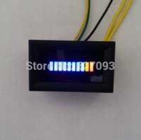 Wholesale Adjustable LED oil meter fuel gauge blue LED display with shell For Automobile motorcycle M51397