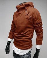 Wholesale Discount Coat Men - Man Discount Coat Mens Jackets Mens Slim Warm Coat clothing Korean mens hooded sweater Jacket Men Red Hoodies Long Sleeve Outerwear Coats As