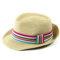 Wholesale Straw Hats Male - Wholesale-2015 fashion hot new outdoor sun beach panama casual floppy men fedora vintage panama straw hat british jazz hat male