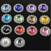 Wholesale Craft Pearl Rhinestones - 5%off 20MM High Quality 14 MIX colors Pearl Flatback Rhinestone Button Embellishment Decorative Button For Crafts XF 50pcs lot