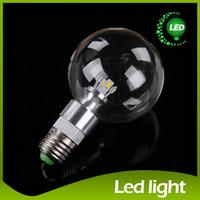 Wholesale E27 Led Blub - 2015 E27 LED Bulbs 3W 5W LED Globe Blub G95 LED Light Bulb Energy-Saving Lamp Led E27 Transparent Glass 5730 LED Dragonball Bulbs