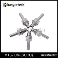 Wholesale New Wick - Kanger Coil Unit MT32 Coil SOCC Coils With Janpanese Organic Cotton Wick 100% Authentic New Arrival