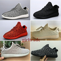 Wholesale Leather Wrestling Shoes - Epacakge Free Drop Shipping Famous 350 Boost Low moonrock black grey Oxford Tan Women Mens Sports Running Shoes 5-12.5