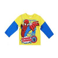 Wholesale Kids Shirts Spider - Retail SpiderMan baby boys T-shirts 2015 spring cartoon boys clothes kids long sleeve t shirts Spider Man printed children clothing 201509HX