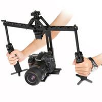 dslr el sabitleyici toptan satış-SıCAK satış Siyah El Örümcek Sabitleyici Video Steadicam DSLR Kamera Kamera için Sürekli Rig