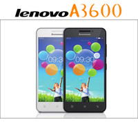 Wholesale Tft Mp3 Wifi - Lenovo A3600D Quad Core Phone MTK6582M 4G ROM Dual Camera 4.5Inch TFT Screen Android 4.4 4G LTE Smart Phone