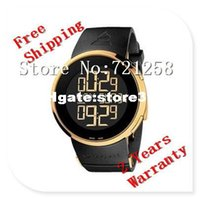 Wholesale Analogue Watches - 2014 Absolute luxury New Special Edition Digital Analogue Gold Case Black Rubber Men's Watch YA114215 Ditital Wristwatch no.1