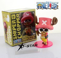 "Wholesale Ice Age Pvc - Free Shipping Cute 6"" One Piece Tony Tony Chopper with Sunglasses and Ice-cream Cone Boxed Doll Figure Collection Model Toy Gift"