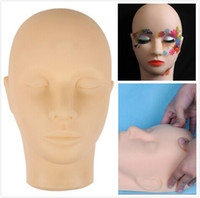 Wholesale Makeup Practice Mannequin Heads - Mannequin head for makeup practice mannequin head for eyelash Mannequin Training Head Closed Practice Model Massage Head Dummy