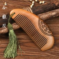 Wholesale Mahogany Hard Wood - Fine Mahogany Comb Double-side Sculpted Anti-static Hair Hairdressing Quality Assurance Convenience Hard to break Brown wood Comfortable