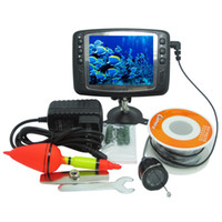 Wholesale Camera Fish Finder System - 2016 New Arrival 8 IR LED 800TVL 4.3'' Color LCD Monitor Underwater Ice Video Fishing Camera System 15m Cable Visual Fish Finder