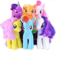 Wholesale Plush Mlp - 19CM Kids TV Rainbow MLP little horse plush toys Cartoon Animals Baby Toy for Children Gifts Wedding Gifts toys high quality