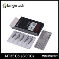 Wholesale Evod Wicks - Kanger Coil Unit MT32 Coil SOCC Coils Fit With Protank and Evod Atomizer With Janpanese Organic Cotton Wick 100% Authentic New Arrival