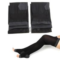 Wholesale Overnight Slimming Socks - Women Overnight Slimming Burn Socks Stockings Leggings Tights Black 1STL