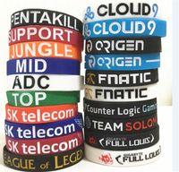 liga-legenden unterstützen armbänder großhandel-50 stücke 20 designs LOL armband LOL SPIELE Souvenirs Silikon Armband LEAGUE von LEGENDS Armbänder mit ADC, DSCHUNGEL, MITTEL, UNTERSTÜTZUNG, TOP D599