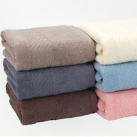 Wholesale super absorbent hair towels - 6 color thick cotton 100% cotton towels and super soft strong absorbent towel spa salon household