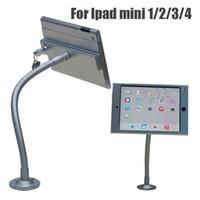 suporte de segurança para tablet venda por atacado-Nova montagem na parede flexível de mesa de montagem tablet segurança anti-roubo stand display case holder suporte de bloqueio para ipad mini 1/2/3/4
