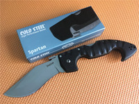 Wholesale Best Quality Knives - Best Price! Cold Steel knives Spartan Folding Knife 440C Blade Grivory Handle High Quality Camping Hunting Survival Folding knife