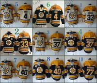 Wholesale Hooded Sweatshirt Men - Boston Bruins #4 Bobby Orr #33 zdeno chara #37 patrice bergeron Cheap Hockey Hooded Stitched Old Time Hoodies Sweatshirt Jerseys