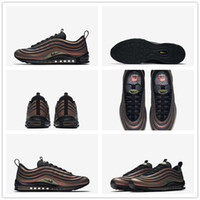 Wholesale Outdoor Sports Flooring - 2017 Max 97 SK Running Shoes Top Quality Skepta x Max 97 Ultra Multi-Color Vivid Sulfur-Black Outdoor Sports Shoes With Box