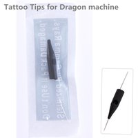 Wholesale 1rl needles for sale - Group buy 100pcs RL Permanent Makeup Tattoo Tips Pre sterilized Disposable dragon machine side hole needle tips Supply