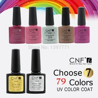 Wholesale Nail Polish Cnf - Wholesale-CNF Nail Gel Choose Any 5 color gel in new 79 color Gel Polish Nail Art 7.3ml +TOP& BASE#drop shipping