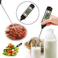 Wholesale Wholesale Digital Meat Thermometer - Digital Cooking Food Probe Meat Household Thermometer Gauge Kitchen BBQ 4 Buttons Stainless Steel Food Cooking BBQ Meat Steak Probe
