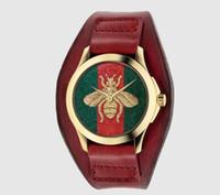 correa de cuero de las señoras al por mayor-Marca de regalo Señoras de la moda Relojes de pulsera Banda de cuero para mujer Reloj de cuarzo de diamantes Reloj femenino Montres Femmes