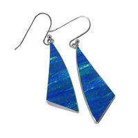 Wholesale Large Opal Earrings - 2015 lastest Design American style silver earrings for party Exquisite Opal Jewelry earrings Dangle for charming women with large discount